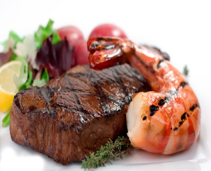 Steak and Prawn