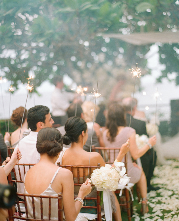 Wedding Sparklers during the Day